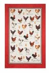 theedoek-linnen-Tea Towel-linen-chicken & egg-kippen-eieren-Ulster-Weavers