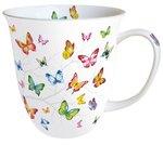 Ambiente-fine bone China-porselein-beker-mok-mug-large-COLOURFUL-BUTTERFLIES-gekleurde-vlinders-400m-18414230