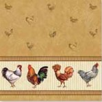 Papieren-servetten-Nouveau-chicken-farm-brown-kippen-bruin