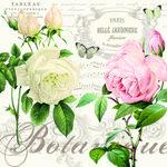 Papieren-servetten-EASY LIFE-Italy-nostalgie-Rozen-Jardin-Botanique-33x33cm