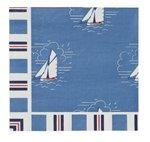 Ulster-Weavers-papieren-servetten-SEASALT-Cornwall-blauw-witte-zeilbootjes