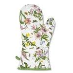 Ovenwant-handschoen-katoen-doorgestikt-BOTANIC-GARDEN-CHINTZ-Gauntlet-bloemen-Iris-Tulp-Lathyrus-duizendschoon-sering-Vingerhoe