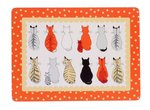 Placemats-set/4-small-new-Cats-in-Waiting-wachtende-katten-stip-Ulster-Weavers-29x21cm
