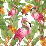 Papieren-servetten-Ambiente-roze-FLAMINGO'S-exotische-planten-lunch-diner-33x33cm