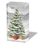 Papieren-zakdoekjes-tissue-paper-handkerchief-TREE ON SQUARE-kerstboom-Denneboom--sneeuw-Ambiente-32212310