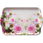 Ambiente-dienblaadje-tray-melamine-small-MAXIMA-ROSES-roos-roze-21x13cm-13705155