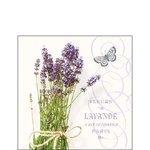 Ambiente-papieren-cocktail-servetten-25x25cm-BUNCH OF LAVENDER-Fleurs-Lavende-Lavendel