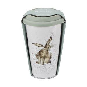 WRENDALE dubbelwandige Travel Mug reisbeker 0,31L bosdieren HARE Haas
