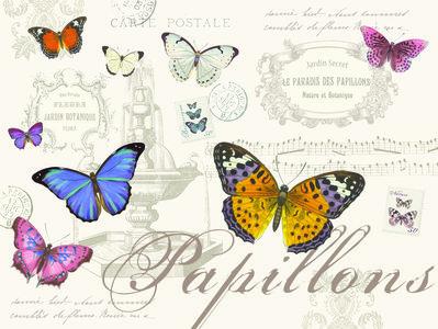 Easy Life PAPILLONS Placemats pk4 40x30cm Vlinders