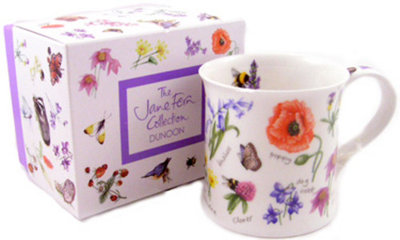 Wessex beker Jane Fern Collection WAYSIDE Poppy Veldbloemen klaproos