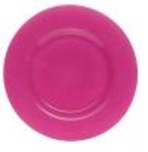 Glazen onderbord Ø 32cm roze