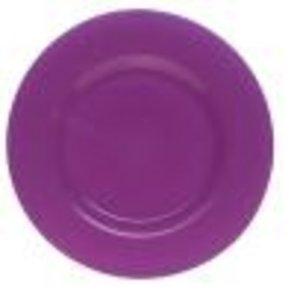 Glazen onderbord Ø 32cm lavendel