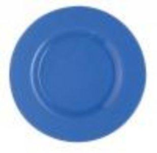 Glazen onderbord Ø 32cm lichtblauw