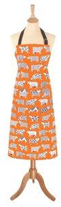 Schort stof CURIOUS COWS Koeien oranje