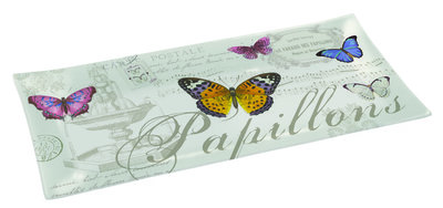 Easy Life Nuova Cakeschaal glas 36x17cm PAPILLON Vlinders