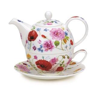 Dunoon Tea4one WILD GARDEN Rozen en Klaprozen