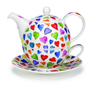 Tea4one WARM HEARTS gekleurde hartjes