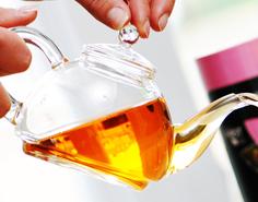 TEA 4 ONE glas Original First Tea Kop & schotel met theepotje