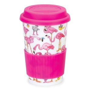 Travel mug reisbeker 0,44L FLAMBOYANCE flamingo's