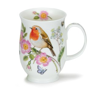 Dunoon beker Suffolk HEDGEROW BIRDS Robin 310ml Roodborstje
