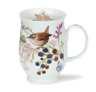 Dunoon beker Suffolk HEDGEROW BIRDS Wren 310ml Winterkoninkje