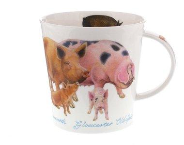 CAIRNGORM XL beker Farmyard PIGS varkens
