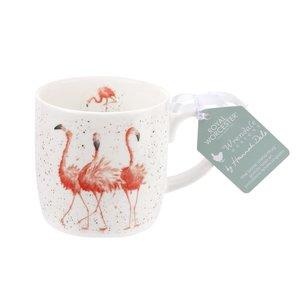 Royal Worcester beker mok PINK LADIES serie WRENDALE ZOO Flamingo's