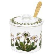Portmeirion-BOTANIC GARDEN-jampot-honingpot-set-designs-botanische-bloemen-Bellis_Perennis-Daisy-Madeliefjes