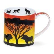 Dunoon-fbC-beker-mok-Orkney-SAVANNAH-Lion-Afrikaanse-wilde-dieren-Leeuw-welp--design-Rebecca_Hogg-350ml