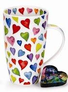 Dunoon-XL-beker-mok-HENLEY-Warm-Hearts-gekleurde-harten-hartjes-