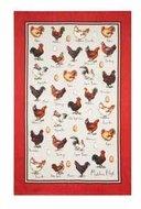 theedoek-linnen-Tea Towel-linen-chicken & egg-kippen-eieren-Ulster-Weavers