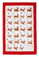Ulster-Weavers-100%-linnen-theedoek-REINDEER-Santa's-rendieren-design-Madeleine_Floyd-000REI-