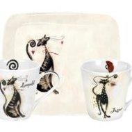 Portmeirion-2bekers-tray-set-katten-Leopold-Sebastian-Thomas-Jasper-witte-achtergrond