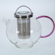 Glazen-theepot-met-zeef-1.25-liter-handvat-pink
