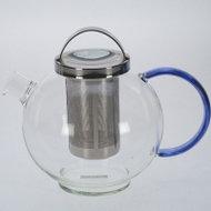 Glazen-theepot-1liter-design-handvat-blauw