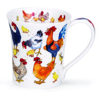 Dunoon-beker-mug-JURA-Cluckers-kippen-kuikens-