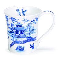 Dunoon-fine-bone-China-Jura-blauw-Oriental-birds-vogels