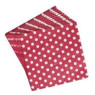 Lighthouse-REX-papieren-servetten-rood-grote-witte-stippen-33x33cm