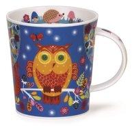 Dunoon-fine-bone-China-beker-mok-lomond-enchanted-wood-owl-uil-Design-Kate-Mawdsley