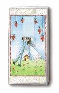 papieren-zakdoekjes-tissue-hanky-LOVERS-FOREVER-bruidspaar-hartjes