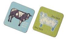 Onderzetters-s/4-Down-on-the-Farm-Boerderij-dieren-schaap-Ulster-Weavers