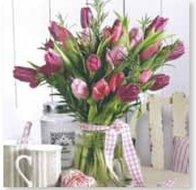 papieren-servetten-Nouveau-bloemen-BUNCH-OF-TULIPS-vaas-Tulpen-33x33cm