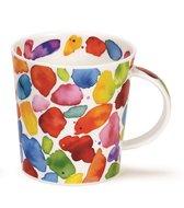 Dunoon-beker-mok-kleurrijk-BLOBS!-verf-strepem-stippen-dots-rood-lomond-colourful-Caroline-Bessey