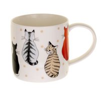 Ulster-Weavers-beker-mok-Becher-Tasse-gobelet-bone_China-wachtende-katten-CATS-in-WAITING-stip-350ml