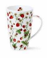Dunoon-XL-beker-mok-fbC-Henley-DOVEDALE-Strawberry-Aardbeien-Lieverheersbeestje-600ml