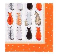 Ulster-Weavers-papieren-servetten-CATS in WAITING-wachtende-katten-33x33cm