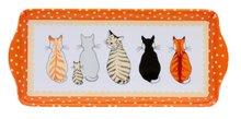 Dienblad-Ulster Weavers-small-tray-CATS in WAITING-dots-wachtende-katten-stippen