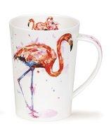 DUNOON-Argyll-XL-beker-mok-FLAMINGO-exotische-vogel-hoge-poten-500ml-Jake Lewis-