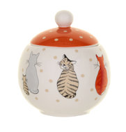 suikerpotje-300ml-bone-China-CATS IN WAITING-NEW!-+deksel-wachtende-katten-STIP