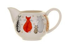 koffiemelk-kannetje-creamer-250ml-bone-China-CATS IN WAITING-NEW!-wachtende katten-stippen-Ulster Weavers